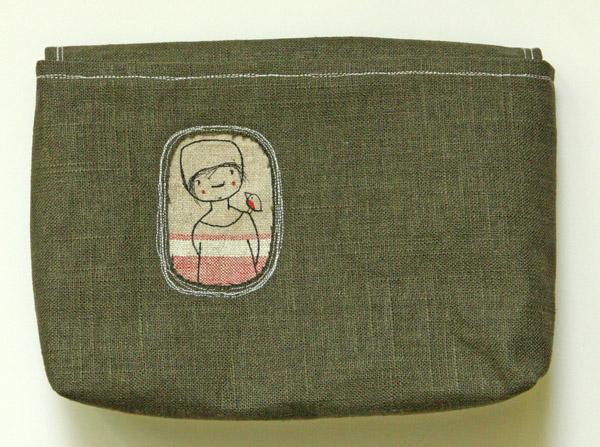 b945117d303c0 Tasche mit Klappe und Unikatbild Nr. 2 - SUSAlabim by Susanne Bochem