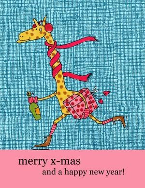 giraffe mit geschenk