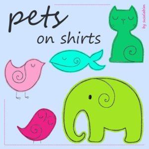 pets on shirts
