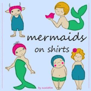 mermaids on shirts